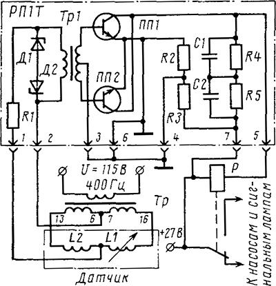 Рисунок 1. Принципиальная электрическая схема полупроводникового реле РП-1Т