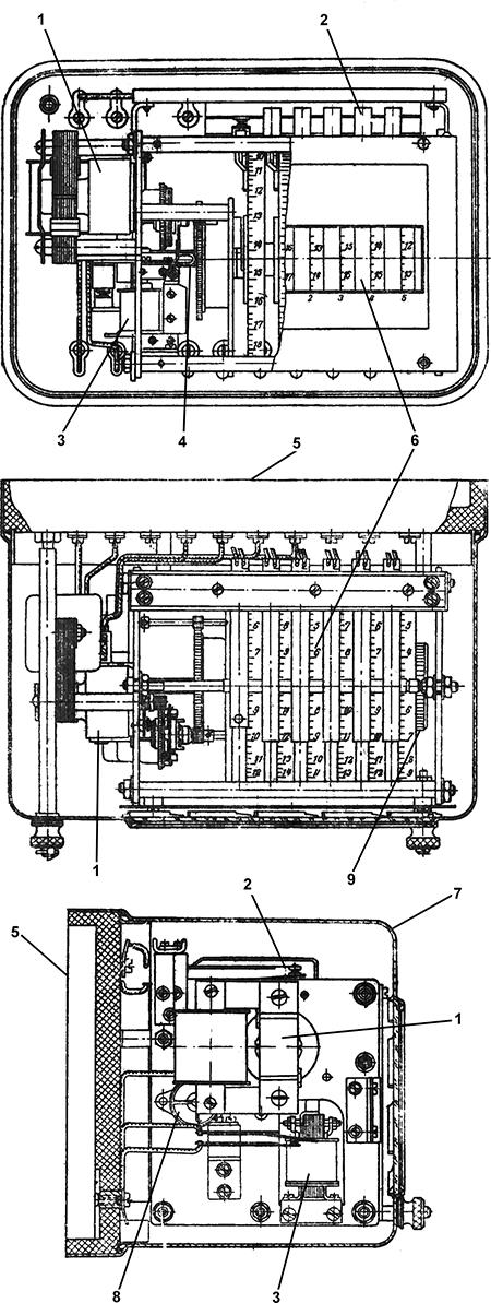 Рисунок 1. Общий вид (в разрезе) моторного реле времени РВТ-1200