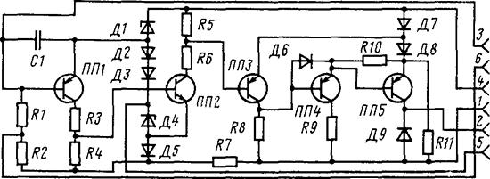 Рисунок 1. Электрическая схема реле времени РВ-2Т