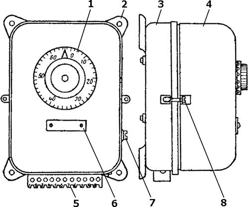 Рисунок 1. Общий вид реле времени РВ-4