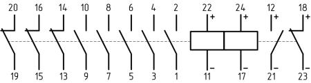 Электрическая схема дистанционного переключателя ТЭВ-22