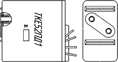 Рисунок 1. Чертеж реле ТКЕ52ПД1