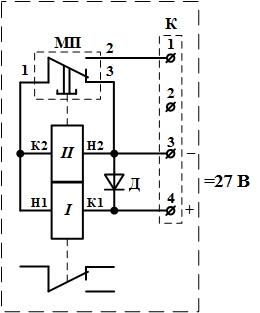 Рисунок 1. Электрическая схема антенного реле