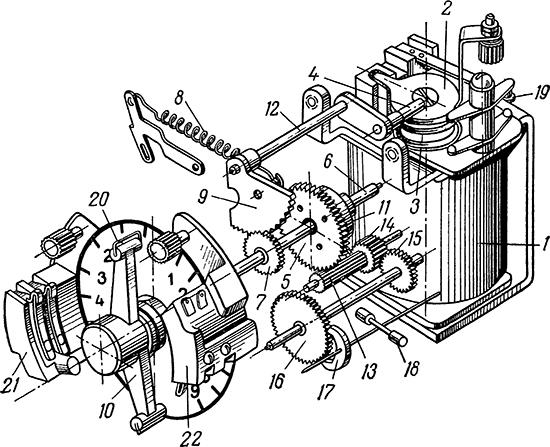 Рисунок 2. Кинематическая схема реле времени серии ЭВ-100