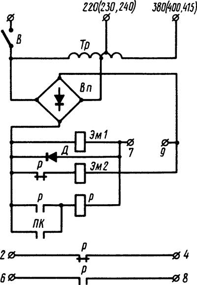 Рисунок 2. Схема электрическая принципиальная реле-счетно импульсного типа Е-531