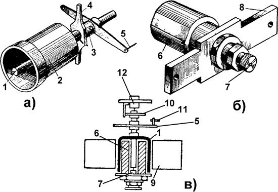 Рисунок 2. Элементы магнитной системы импедансного направленного реле ИИН-1АМ