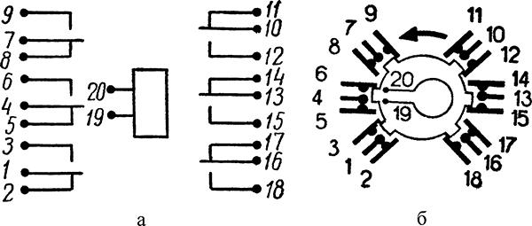 Рисунок 2. Схемы электромагнитного реле постоянного тока РЭС-7