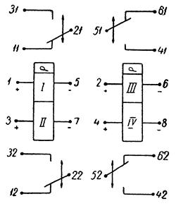 Рисунок 2. Электрическая схема дистанционного переключателя РПС-24