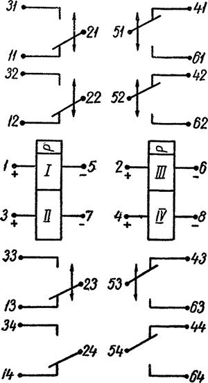 Рисунок 2. Электрическая схема дистанционного переключателя РПС-28