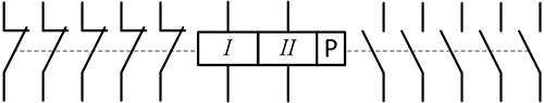 Рисунок 2. Условная электрическая схема электромагнитного поляризованного переключателя ТЭВ-31