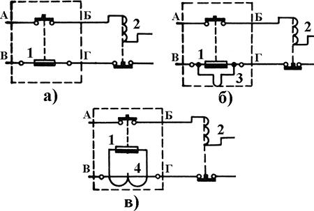 Рисунок 2. Схемы электрические принципиальные реле серии ТРТ