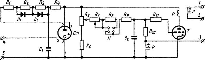 Рисунок 2. Электрическая схема тиратронного реле времени ВЛ-1
