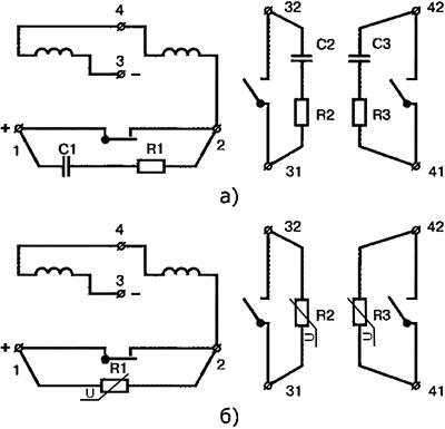 Рисунок 3. Электрические схемы маятниковых трансмиттеров МТ-1 и МТ-1М