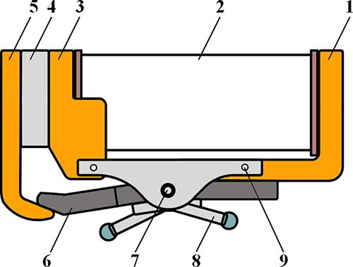 Рисунок 3. Магнитная система поляризованного реле РЭН-35