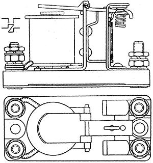 Чертеж контактора постоянного тока К-25А