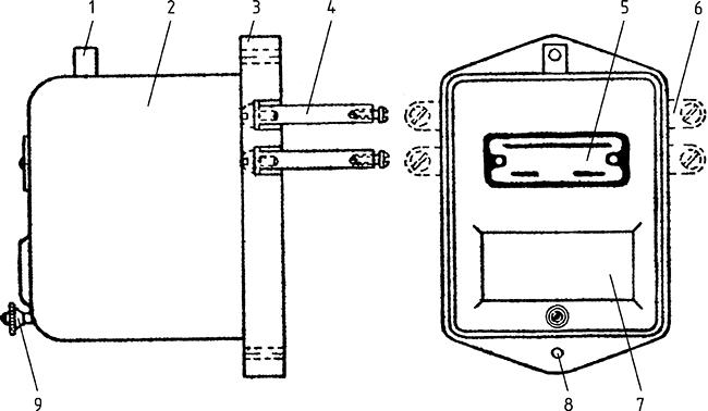 Рисунок 1. Общий вид указательного реле РУ-1 (РУ-1А)
