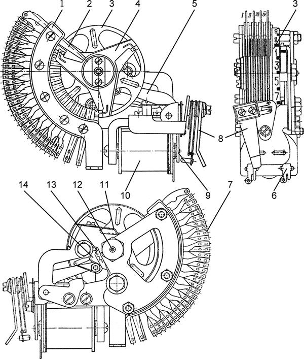 Рисунок 1. Конструкция шагового искателя ШИ-11