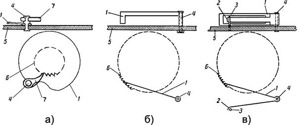 Рисунок 2. Разные варианты сцепления храпового механизма реле времени ЭВ-180.