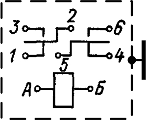 Рисунок 2. Электрическая схема слаботочного реле РЭС-37