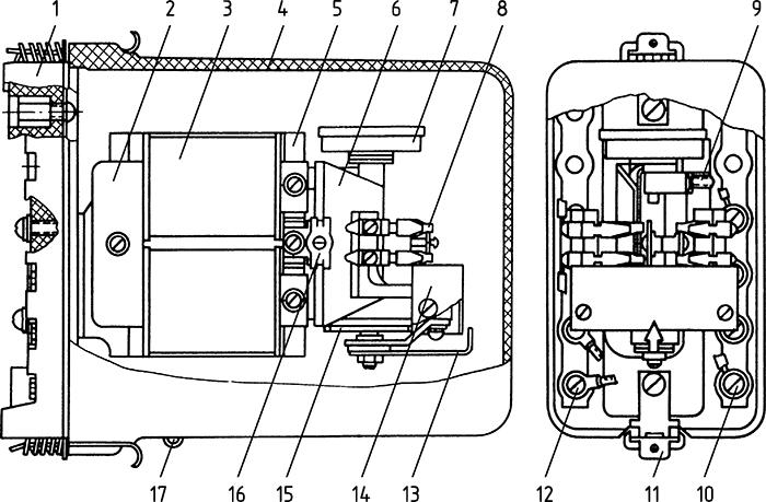 Рисунок 2. Конструкция реле максимального тока РТ-40