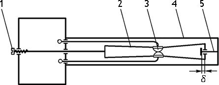 Рисунок 2. Кинематическая схема температурного реле ТР-200