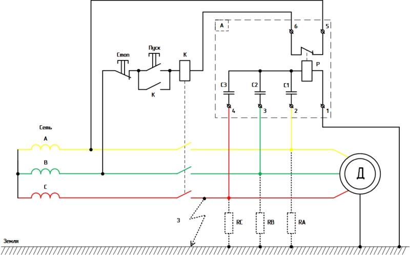 Рисунок 3. Схема, поясняющая работу асимметра РА-74/2