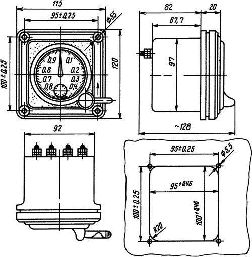 Рисунок 1. Общий вид секундомера с разметкой щита. General View of Timer and Switchboard Layout