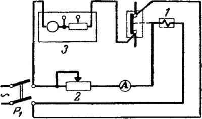 Рисунок 2. Схема проверки электрических характеристик токовых реле