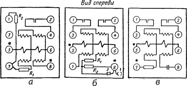 Рисунок 4. Схема внутренних соединений реле направления мощности РБМ